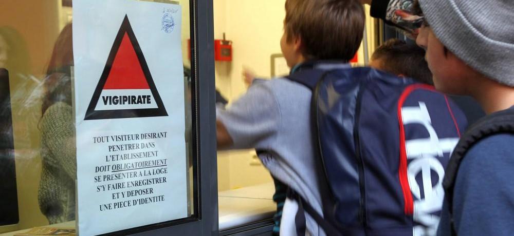 « Sécurité des Ecoles – Renforcement du Plan Vigipirate à compter du 23 novembre »