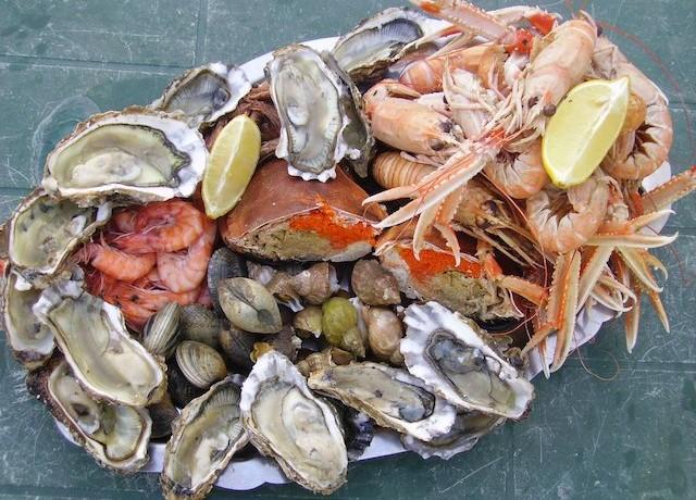 Huitres et produits de la mer